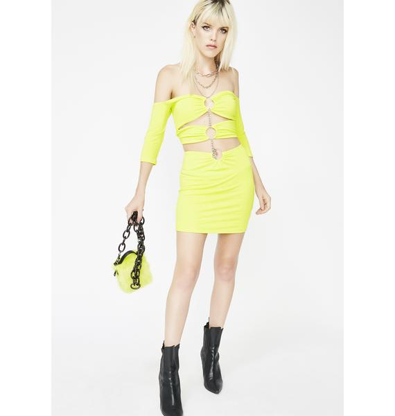 Day Glo What A Delight Chain Dress