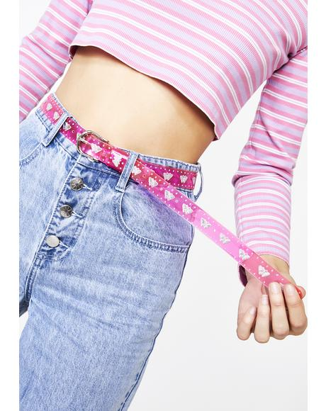 Sweet Love Bug Confessions Holographic Belt