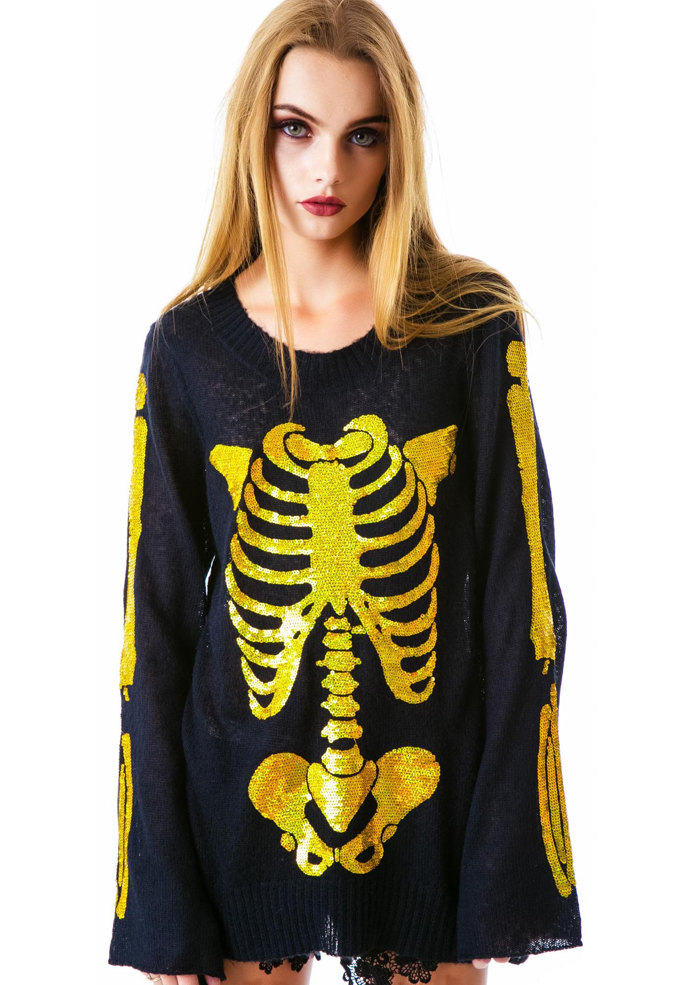 Wildfox Couture I Am Gold Favorite Sweater