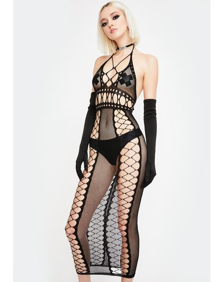 Control Freak Fishnet Dress