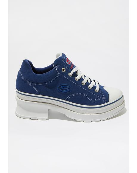 Navy Softy Heartbeats Sneakers