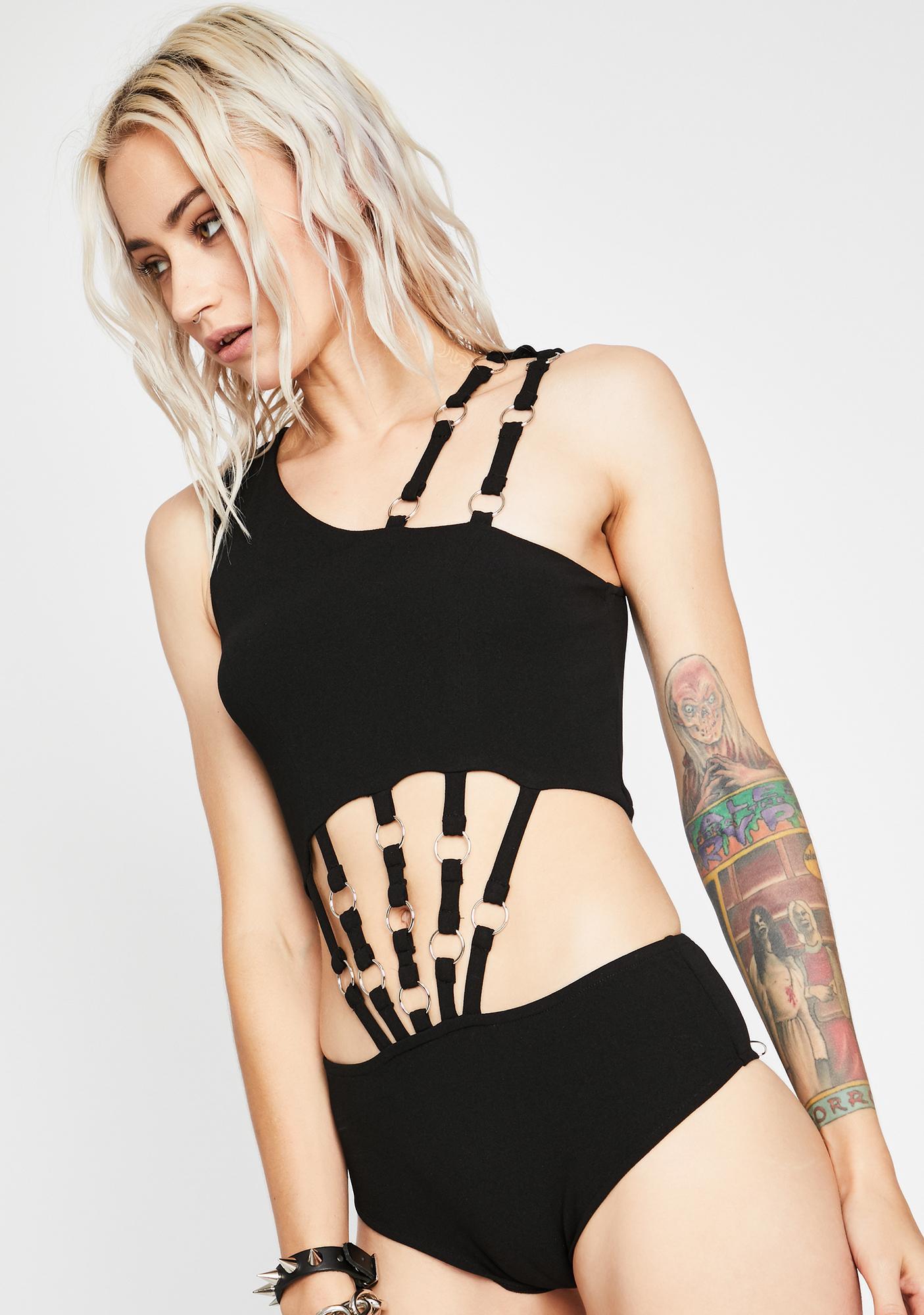 Hectic Habits Cut-Out Bodysuit