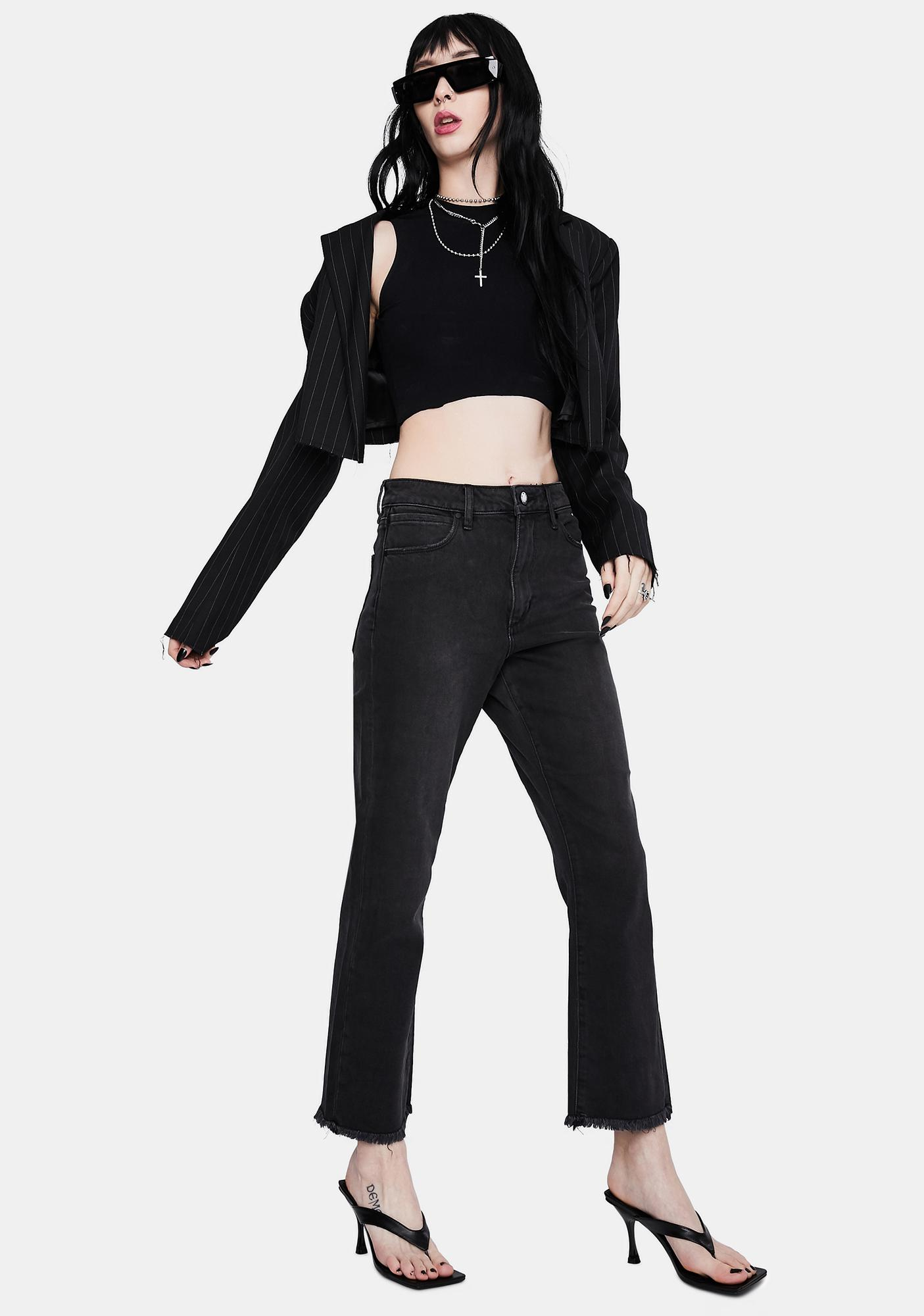 Articles of Society Kate High Waisted Straight Crop Jeans