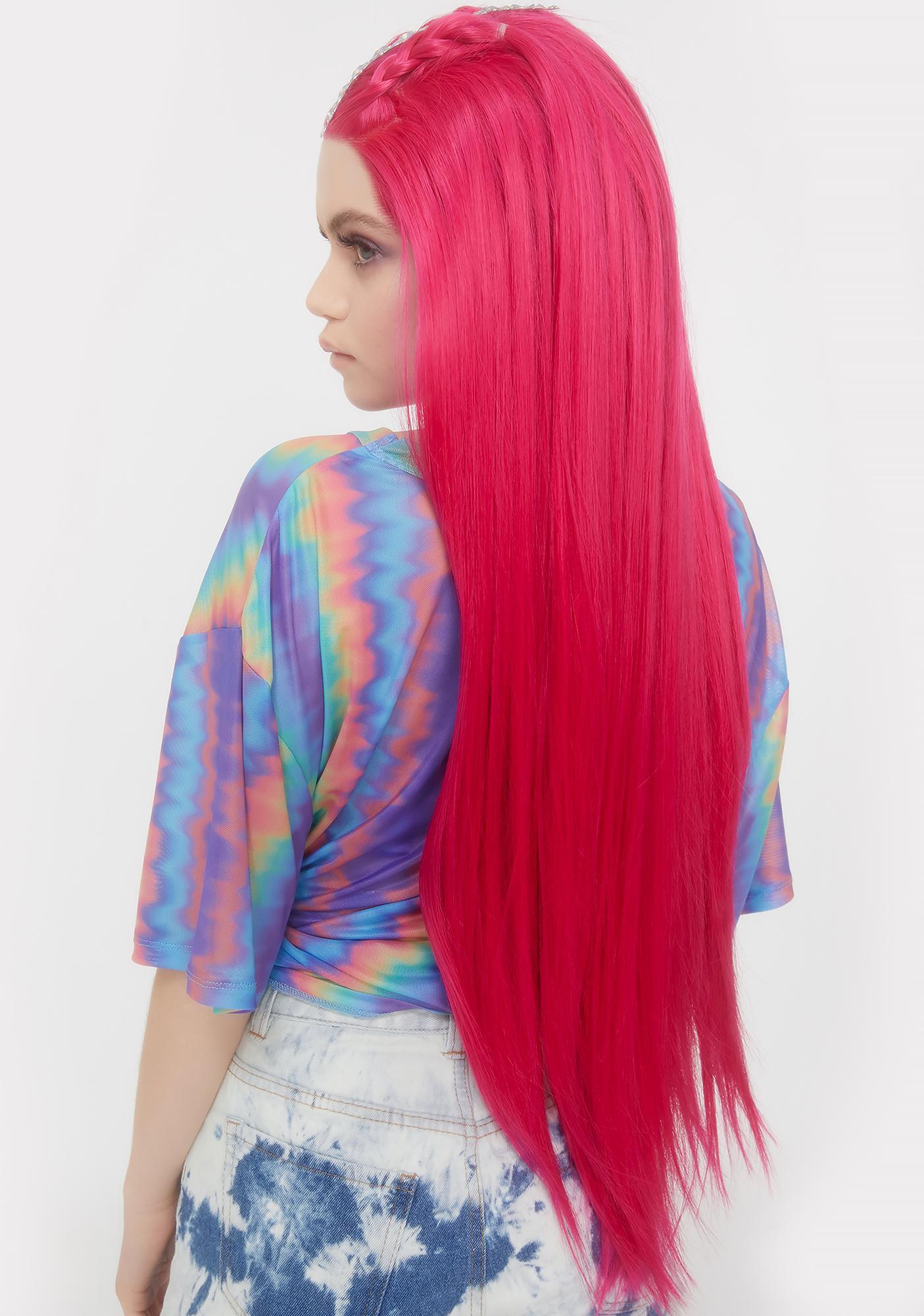 Lit Unicorns Pink Kink Lace Front Wig