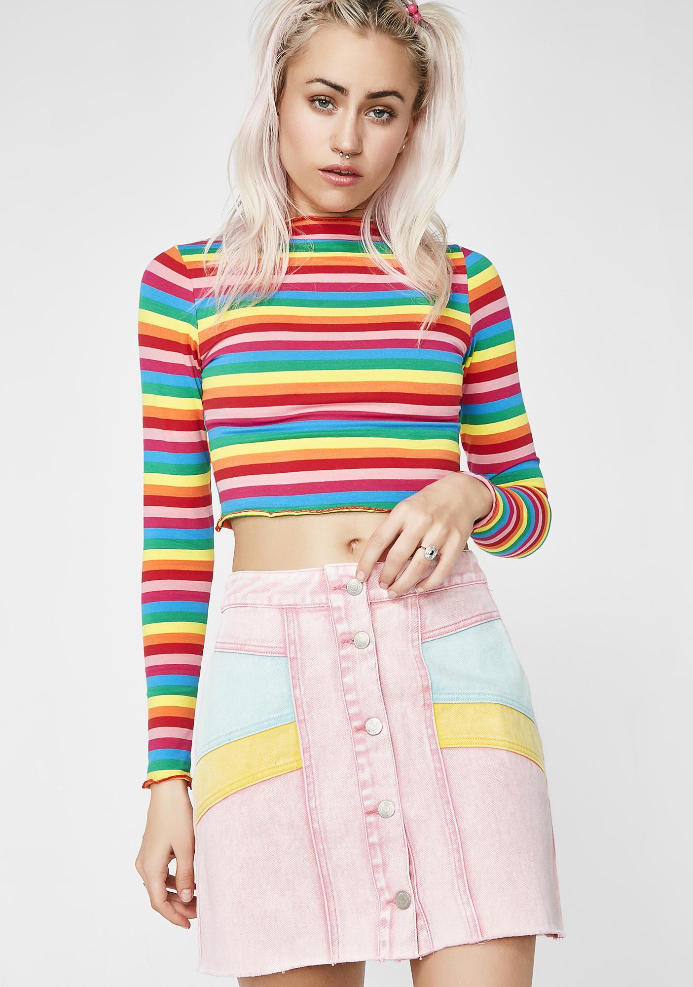 Candy Skies Denim Skirt