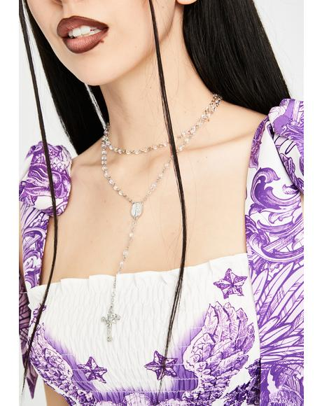 Heavenly Heaux Rosary Necklace
