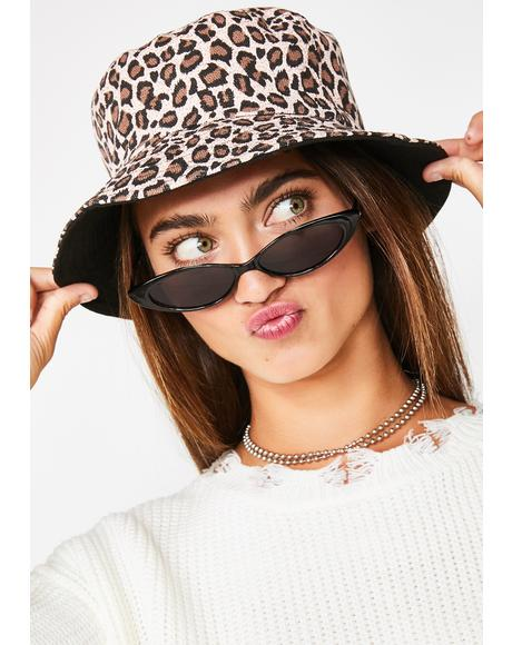 Sinful Make Me Purr Leopard Bucket Hat