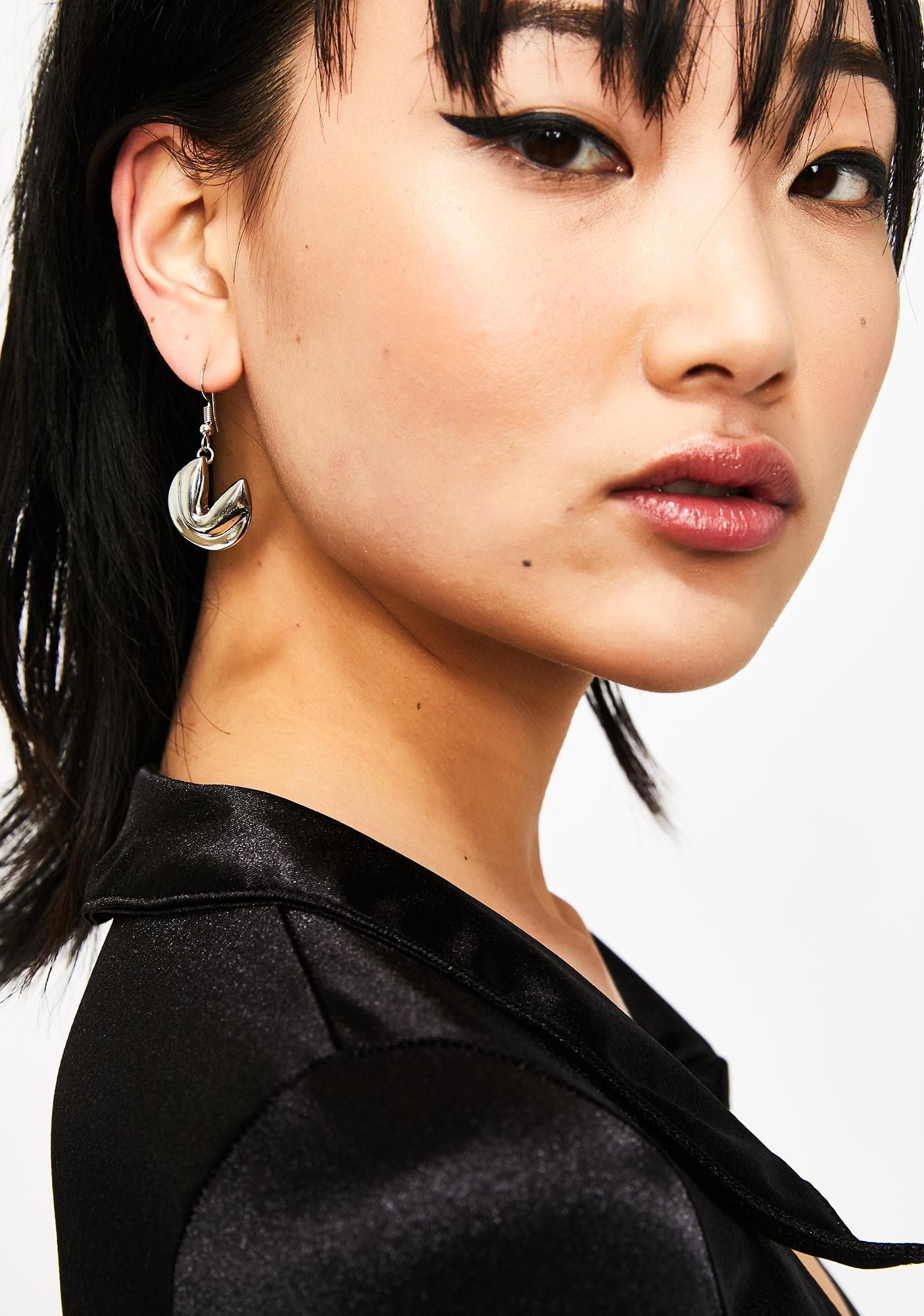 Flashy Fortune Cookie Earrings