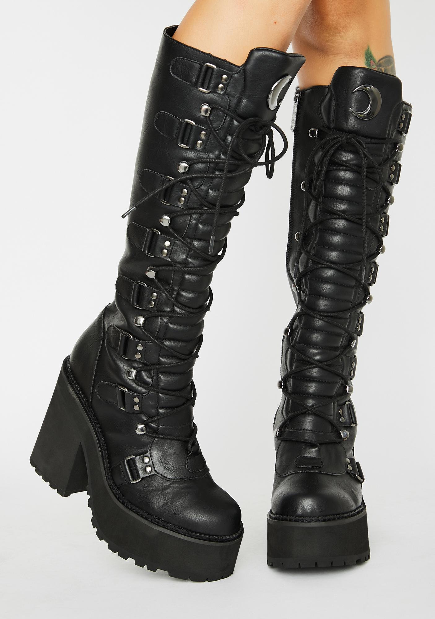 Selene Knee High Boots by Killstar