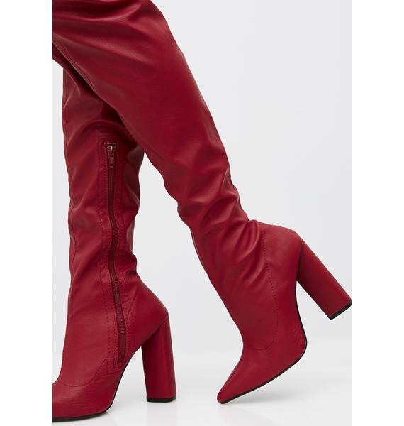 Burnin' Romance Over The Knee Boots