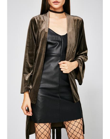 Easy Money Velvet Duster
