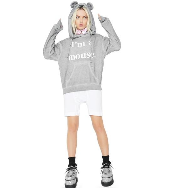 Wildfox Couture I'm A Mouse Cuddles Mouse Hoodie