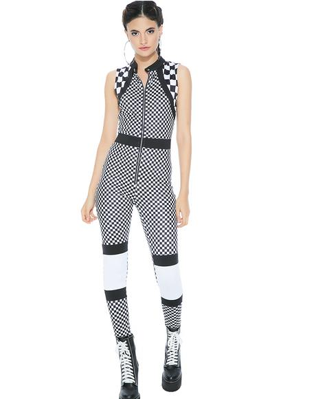 Full Speed Checkered Jumpsuit