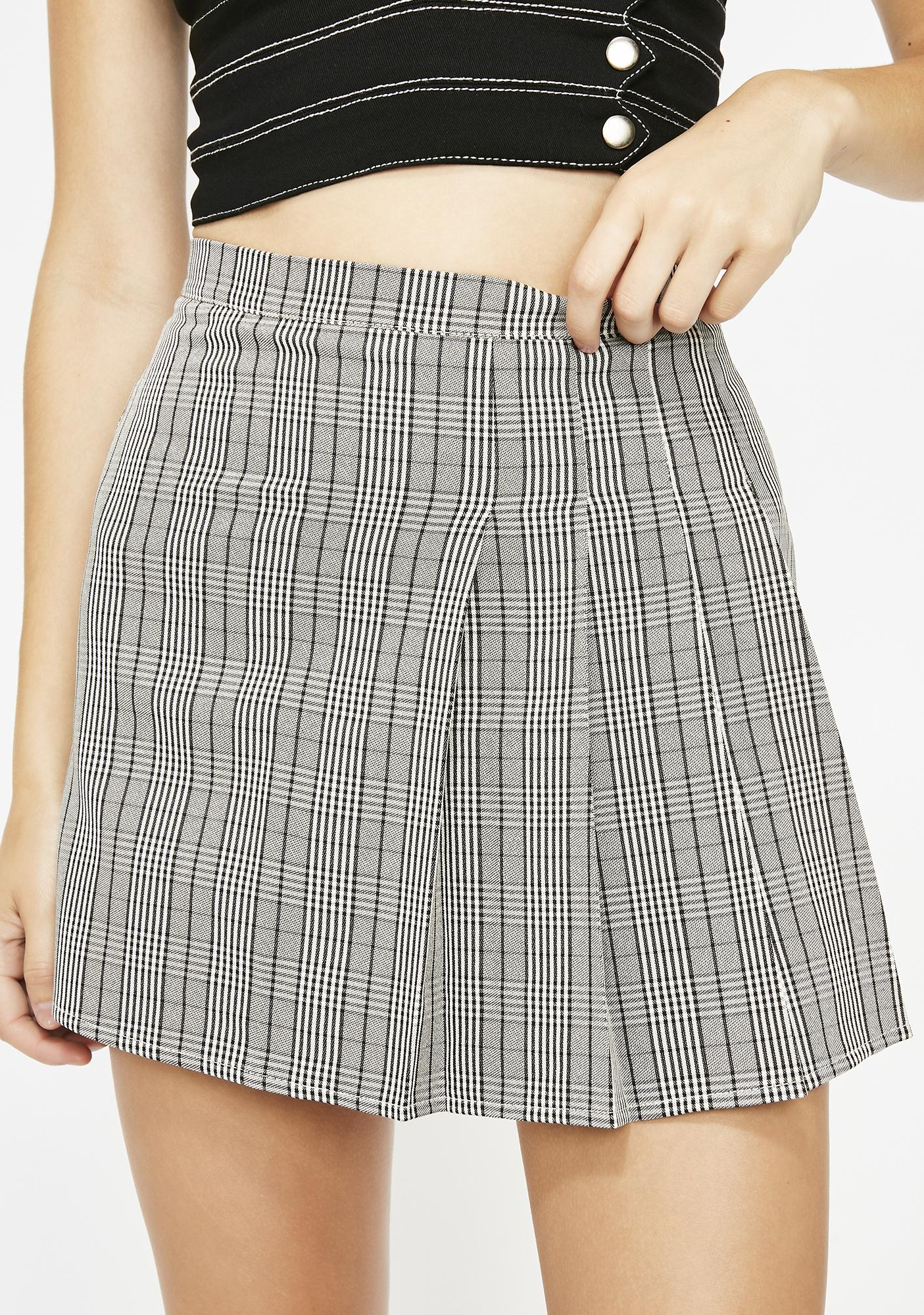 First Name Ashley Plaid Skirt