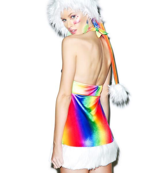 J Valentine Psychedelic Santa Dress