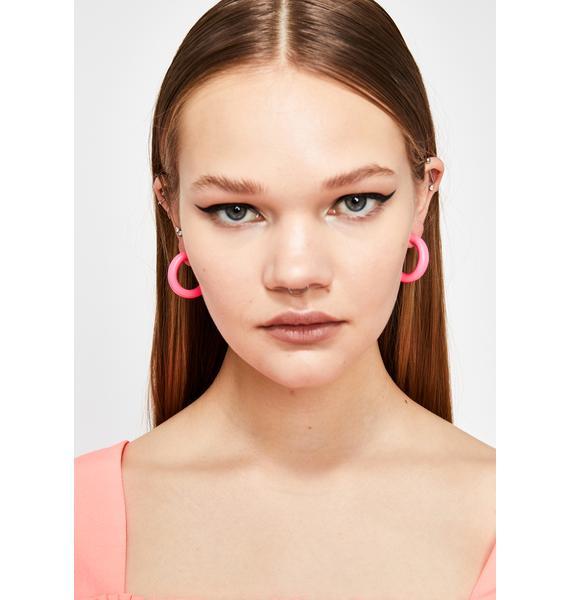 Sicko Scene Hoop Earrings