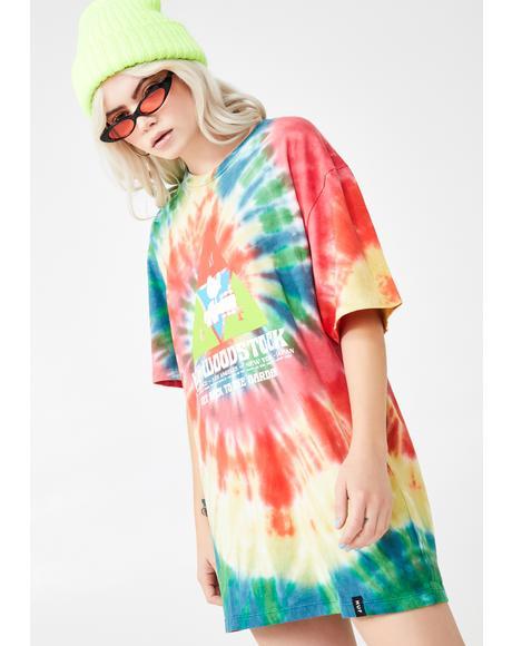 Woodstock Peaking Tie Dye Tee