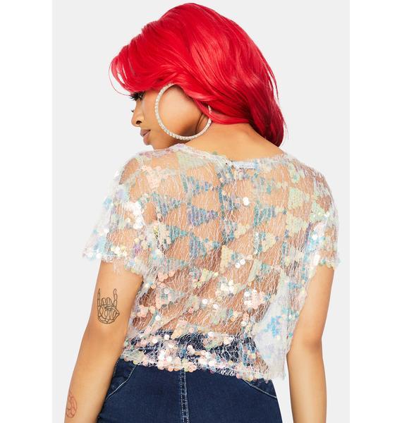 Pixie Girl Sequin Crop Top
