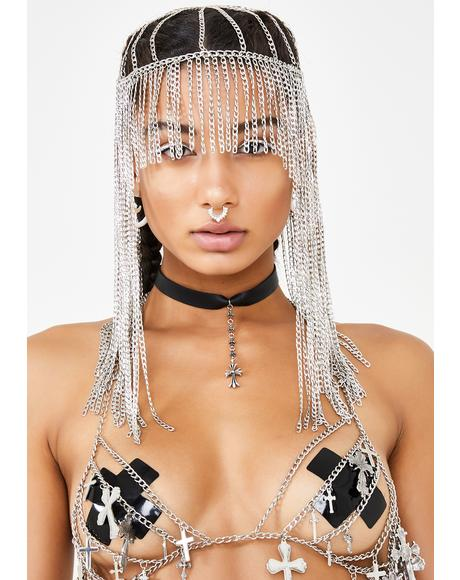 Chrome Liquefied Light Fringe Head Chain