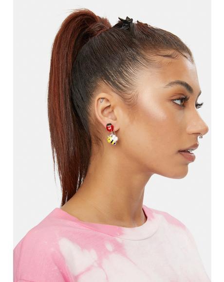 Got U Bugged Charm Earring Set