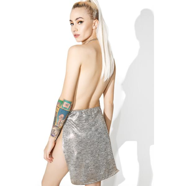 Metallic All Nighter Mini Dress