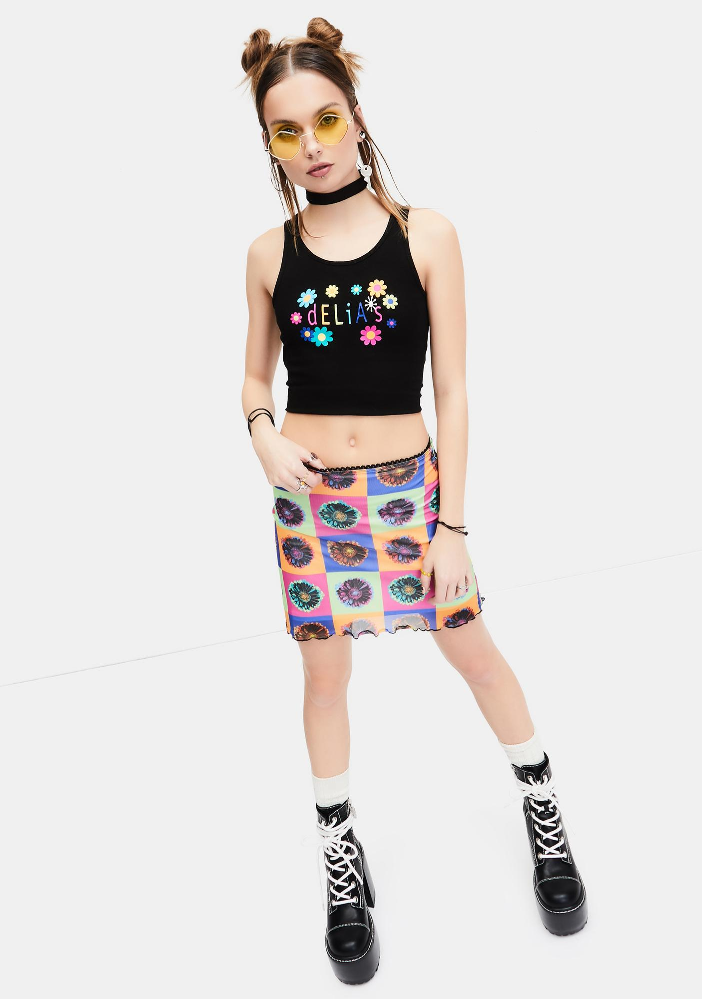 dELiA*s by Dolls Kill Flowering Heights Graphic Logo Tank