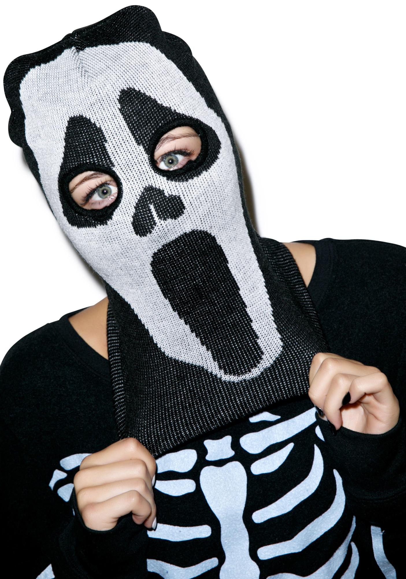 Night Scream Knit Mask