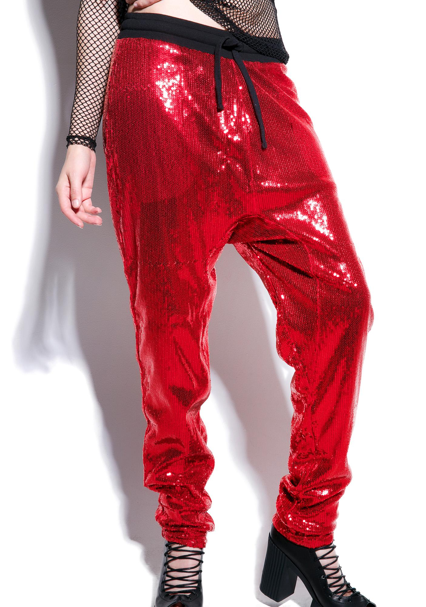 24HRS Fantasy Sequin Joggers