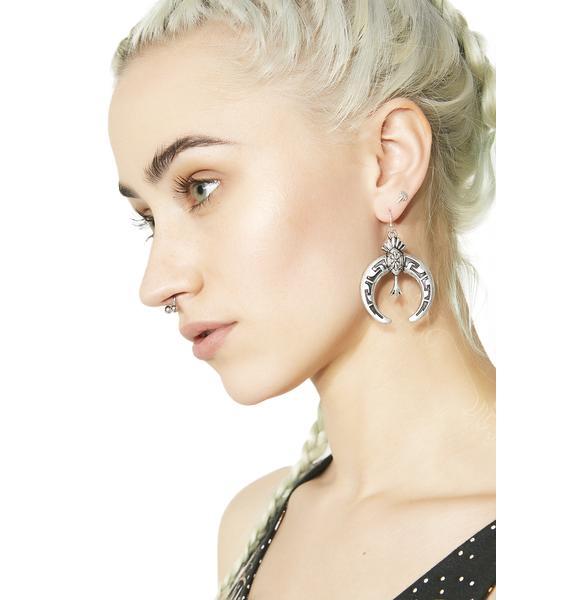 Nouveau Witch Crescent Earrings