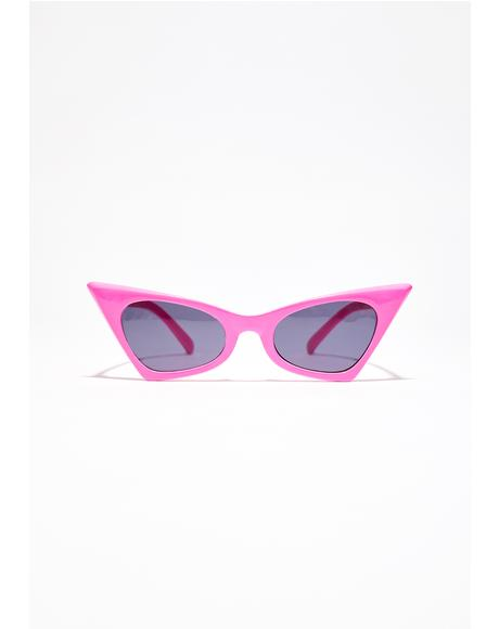 Hot Pink Classic Foxy Shades