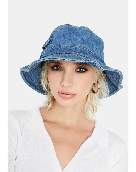 Royal Hidden Stash Denim Bucket Hat