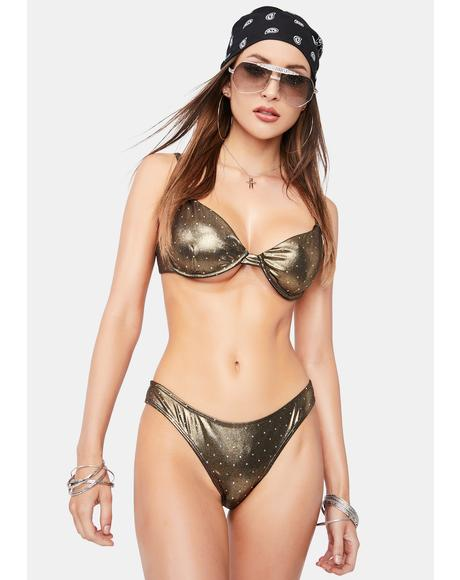 Metallic Nox Bikini Bottoms