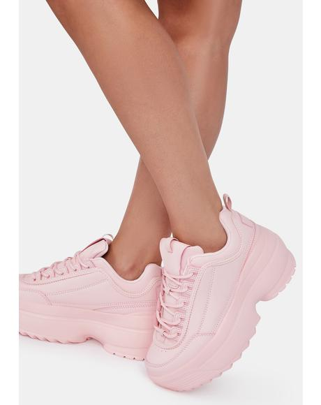 Bubblegum Rec League Platform Sneakers