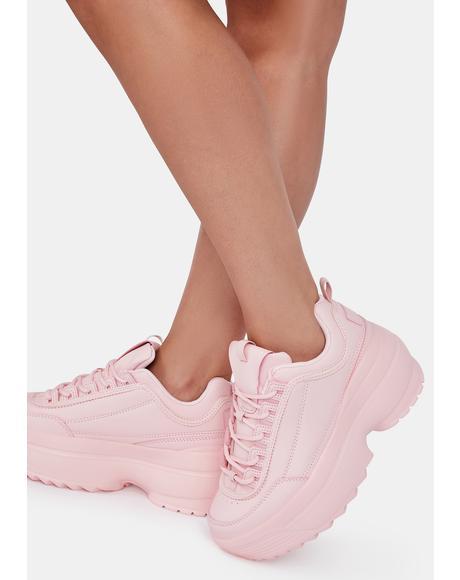 Bubblegum Rec League Platform Sneakers