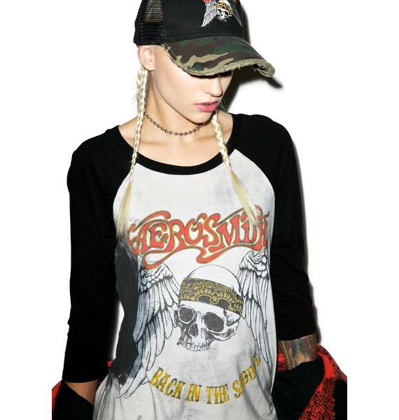 Lauren Moshi Aerosmith Boyfriend Raglan