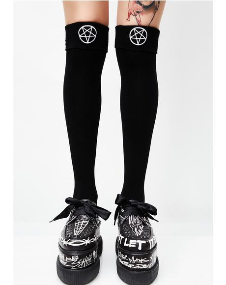 School Ghoul Long Sock