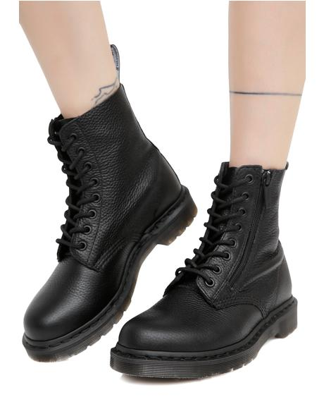 Black Zip Pascal Boots