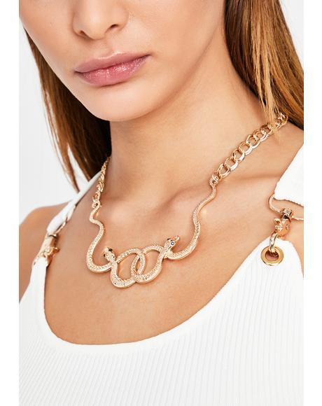 Bitten Blaze Chain Necklace