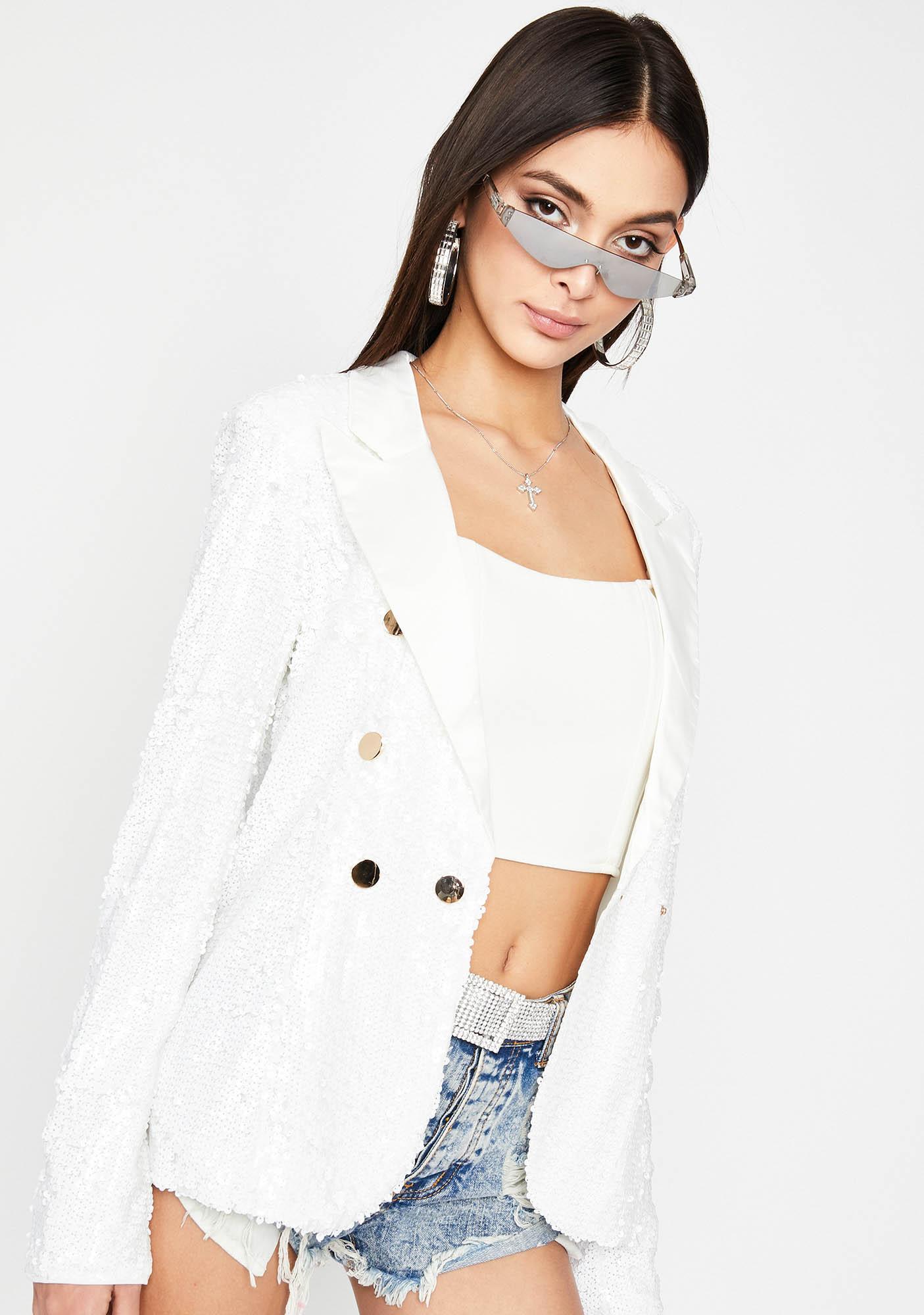 Angel In The Spotlight Sequin Blazer