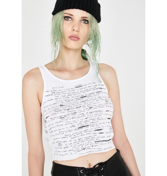 Current Mood Passing Notes Tank Top