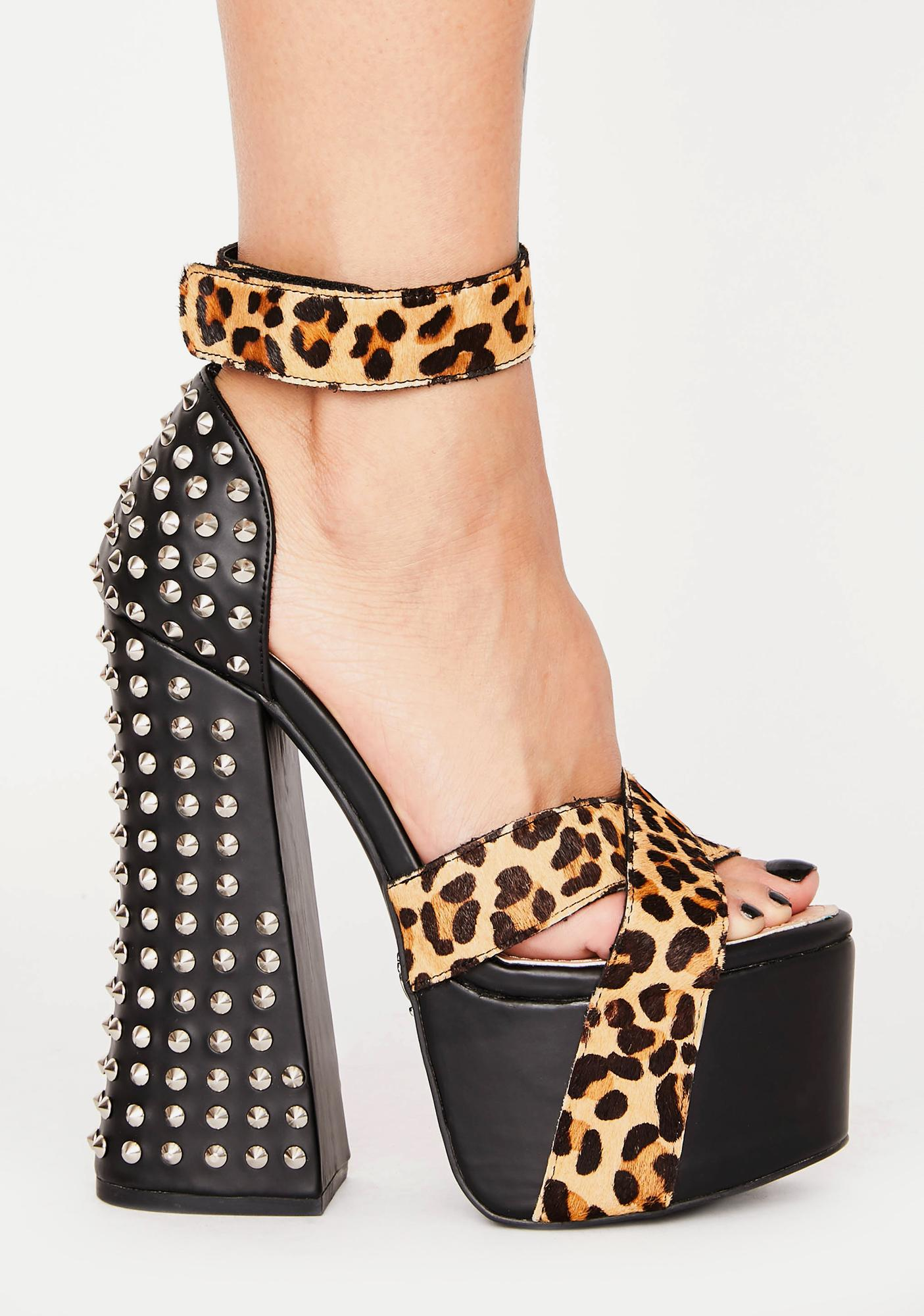 Charla Tedrick Bowery Leopard Platform Heels