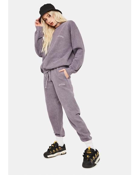 Lilac Jogger Sweatpants