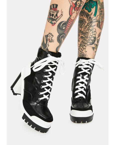 Ink Captain Colorblock Ankle Boots