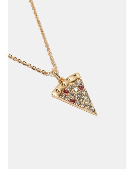 Take A Slice Pizza Necklace