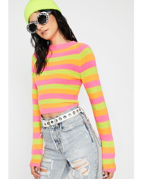 Hey Sweetie Fuzzy Sweater
