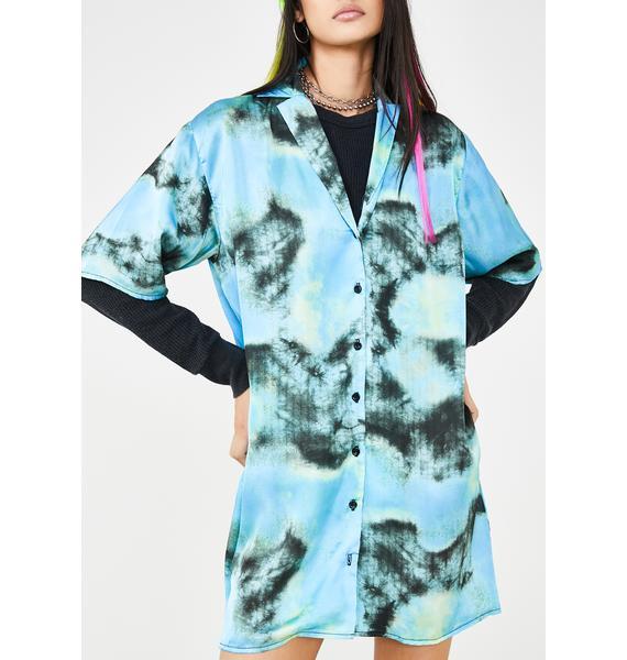 The Ragged Priest Tie Dye Shirt Dress