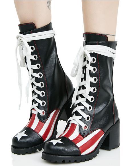 Babe Brigade Combat Boots