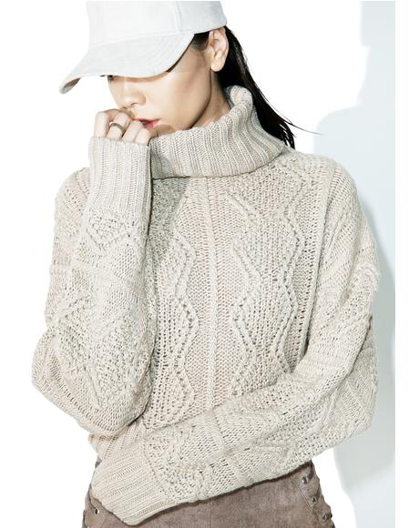 When I'm Down Turtleneck Sweater