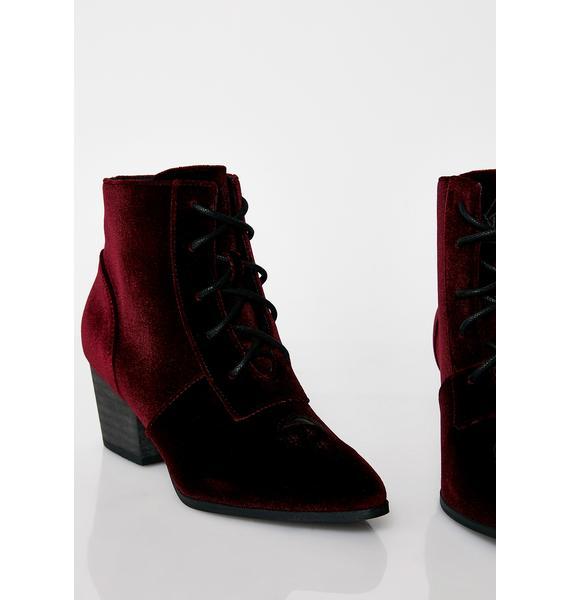 Y.R.U. Velvet Aura Boots