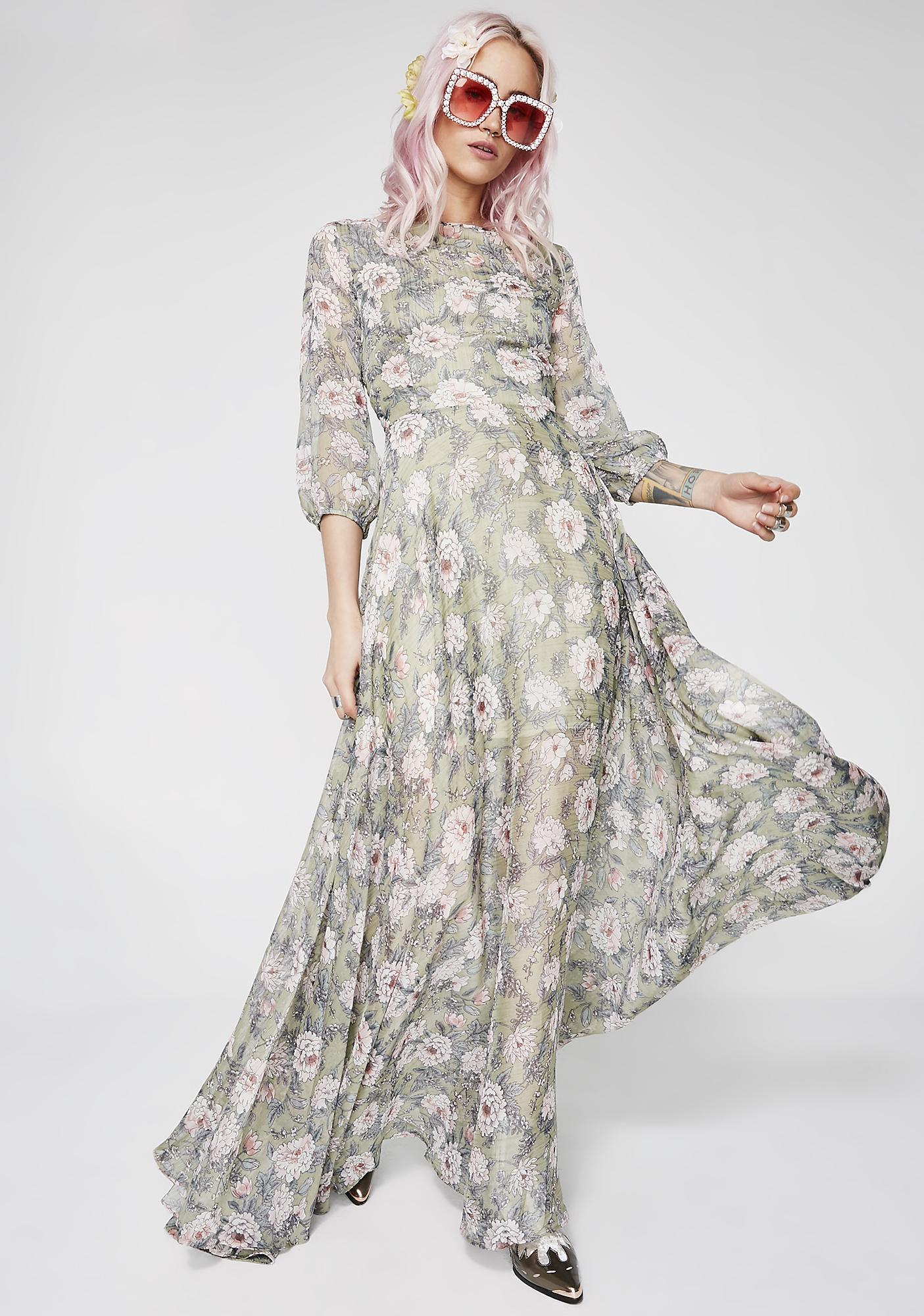 She'z No Wallflower Maxi Dress